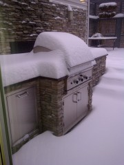 It's not like we can use the outdoor kitchen!